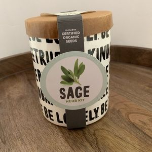 Indoor Herb Garden Kit Sage Seeds Planter Plant